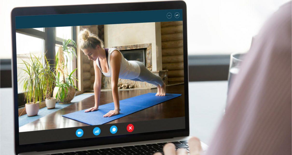 watching pilates workouts through online
